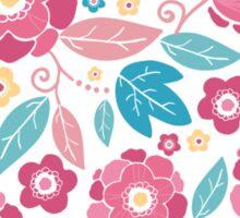 Colorful summer florals pattern Sticker