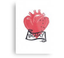 Vacancy, Room for Love in this Heart Metal Print