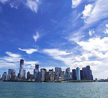 New York City Manhattan midtown skyline by thegaffphoto