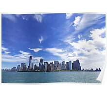 New York City Manhattan midtown skyline Poster