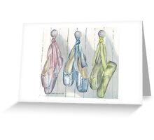 Ballet Line-Up Greeting Card