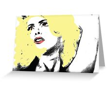 Lady Gaga Digital Art Greeting Card