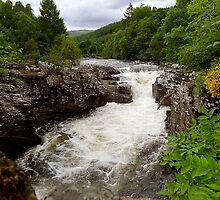 Invermoriston Falls, Scottish Highlands by triciamary