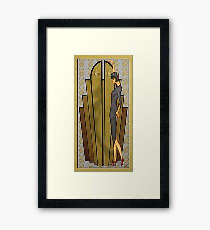 Atlantean Gold Framed Print
