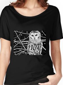 Snowy Night Women's Relaxed Fit T-Shirt