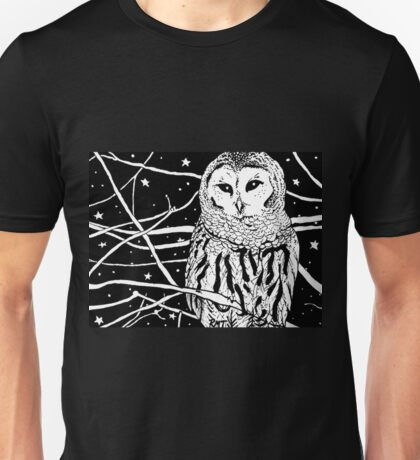 Snowy Night Unisex T-Shirt