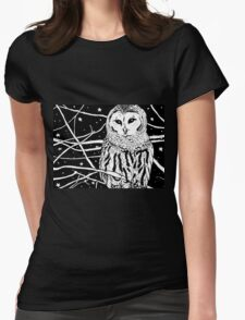 Snowy Night Womens Fitted T-Shirt