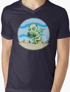 Cthulhu At Play Mens V-Neck T-Shirt
