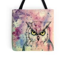 Watercolor Owl Tote Bag