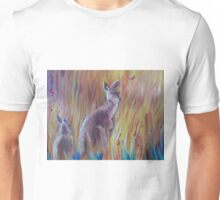 Kangaroos in Long Grass Unisex T-Shirt
