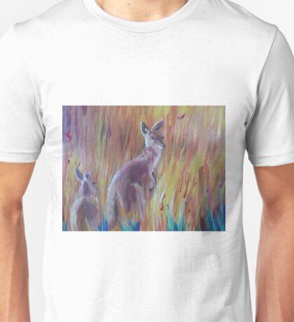 Kangaroos in Long Grass Unisex T-Shirt