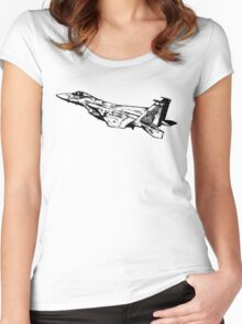 F-15 Eagle Women's Fitted Scoop T-Shirt