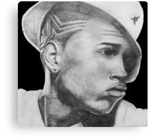 Chris Brown Portrait Drawing Canvas Print