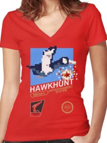 49ERS Hawkhunt Women's Fitted V-Neck T-Shirt