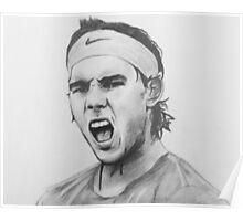 Rafa Nadal Portrait Drawing Poster