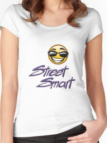STREET SMART designer tees and stickers. Women's Fitted Scoop T-Shirt