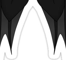 Dragon wings - black Sticker