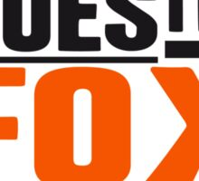Cool What Does The Fox Say Logo Sticker