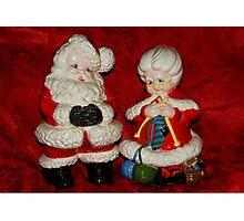 Mr. & Mrs. Santa Claus Photographic Print