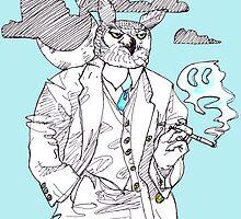 great horned mob boss by Ashley Peppenger