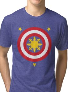 Captain Philippines! (For Blue Shirts Only) Tri-blend T-Shirt
