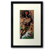 Hooked Framed Print
