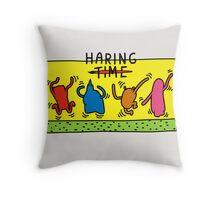 Haring Time Throw Pillow