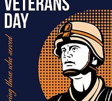 Happy Veterans Day Serviceman Greeting Card by patrimonio