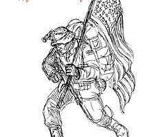 American Veterans Day Remembrance Greeting Card by patrimonio