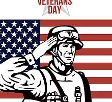 American Veterans Day Greeting Card by patrimonio