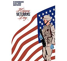 Modern American Veteran Soldier Greeting Card Photographic Print