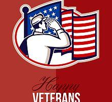Veterans Day Modern American Soldier Card by patrimonio