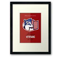 Veterans Day Modern American Soldier Card Framed Print