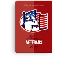 Veterans Day Modern American Soldier Card Canvas Print