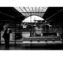 waiting for the eurostar Photographic Print