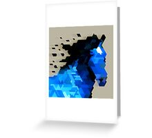 Trixel Horse Greeting Card