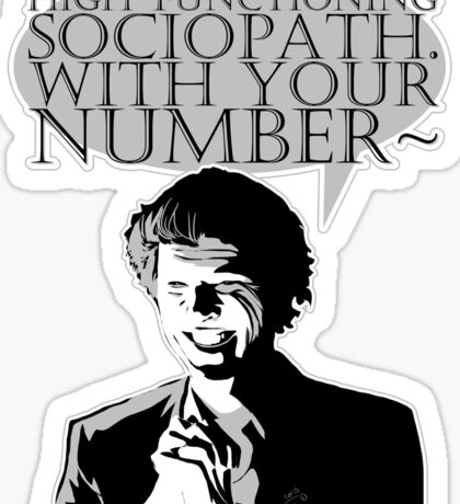 High-Functioning Sociopath. Sticker