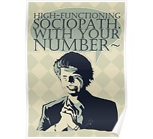 High-Functioning Sociopath. Poster