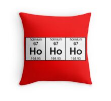 Ho Ho Ho - Christmas in elements Throw Pillow