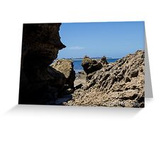Rocks at Point Lonsdale Greeting Card