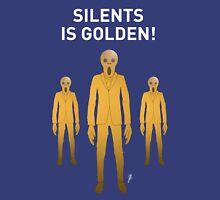 SILENTS IS GOLDEN TEE-SHIRT (WHITE TEXT) Unisex T-Shirt