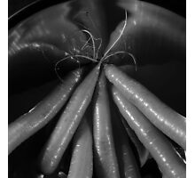 Tasty carrots in a colander - monochrome Photographic Print