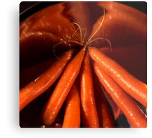 Tasty carrots in a colander  Metal Print