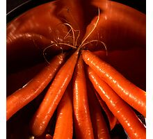 Tasty carrots in a colander  Photographic Print
