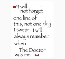 The Doctor's final words. by hjatthedisco