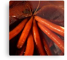 Tasty moist carrots in a colander Metal Print