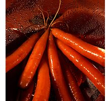 Tasty moist carrots in a colander Photographic Print