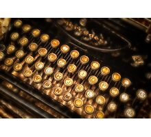 Old typewriter Photographic Print
