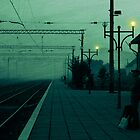 Waiting for a train by AhaC