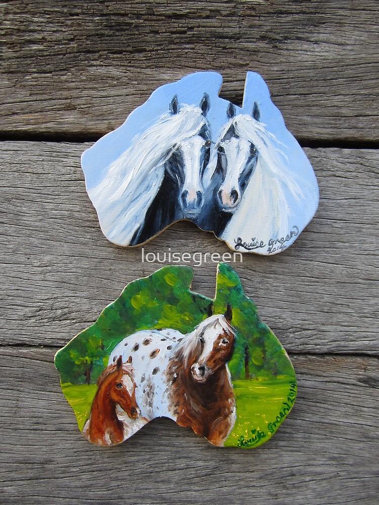 Gypsy Pair & Appaloosa fridge magnets by louisegreen